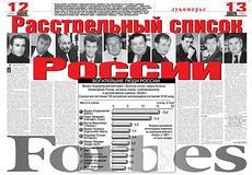 В России насчитывается 53 миллиардера с общим состоянием в 282 миллиарда долларов.