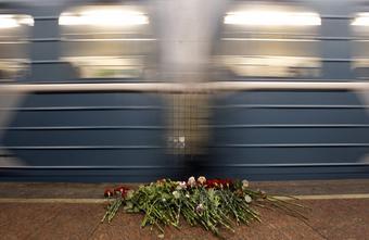 Цветы на станции Лубянка