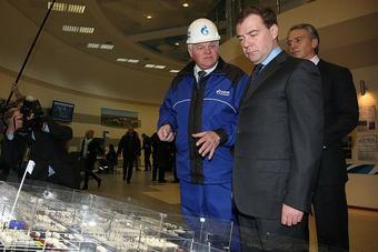 Посещение Президентом Омского НПЗ