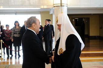 Патриарший визит в Казахстан. Встреча с Президентом Республики Казахстан Н.А. Назарбаевым.