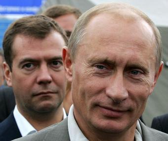 В.Путин и Д. Медведев.